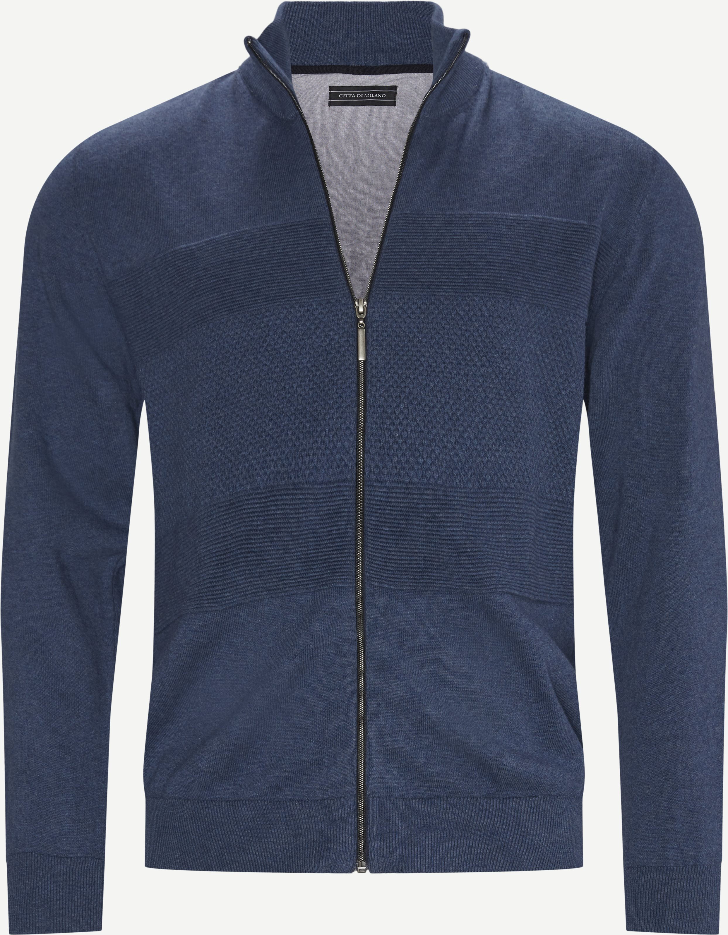 Strickwaren - Regular - Jeans-Blau
